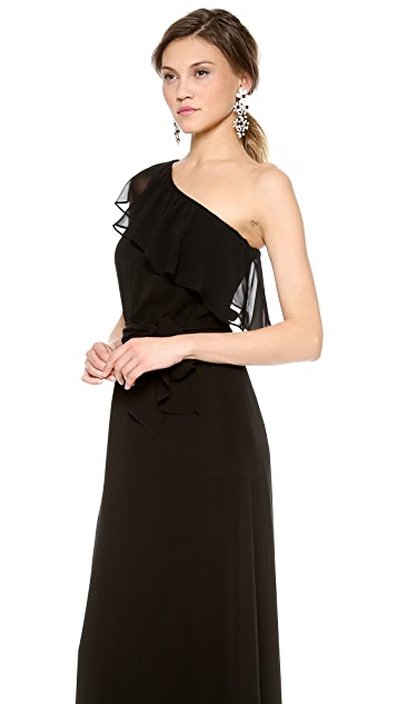 Joanna August 8th Ave One Shoulder Gown