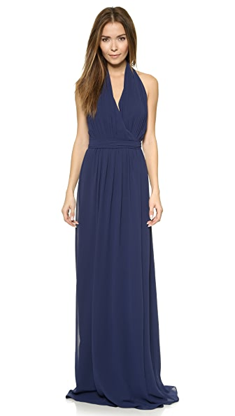 Joanna August Amber Halter Wrap Dress - Navy