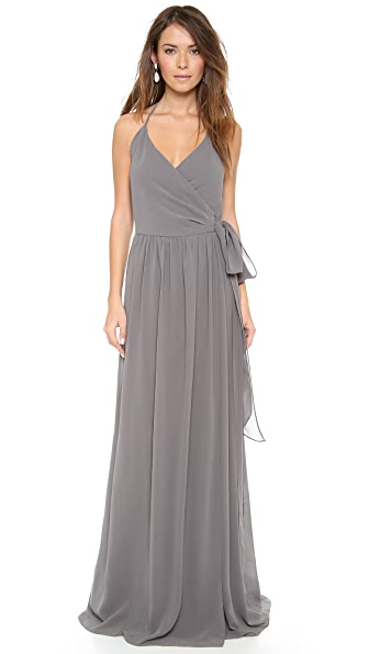 Joanna August DC Halter Wrap Dress - Smoke on the Water