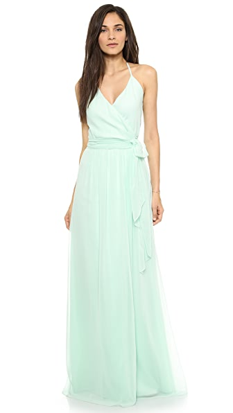 Joanna August Dc Halter Wrap Dress - I Want Candy