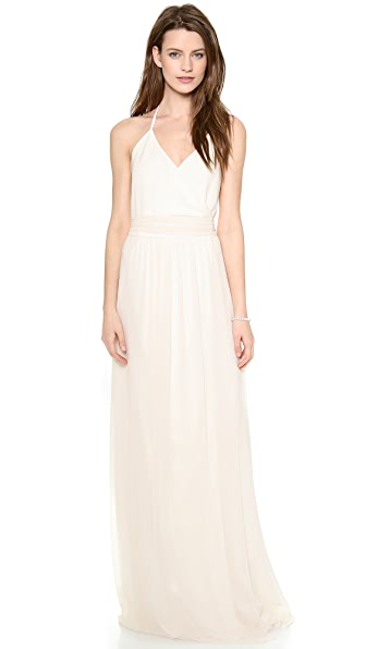 Joanna August Dc Halter Wrap Dress - Going To The Chapel