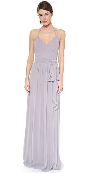 Joanna August Dc Halter Wrap Dress - Silver Bells