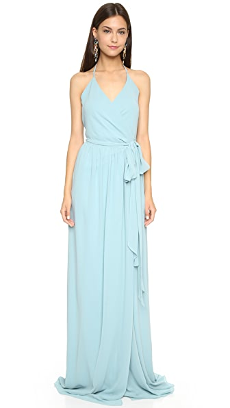 Joanna August DC Halter Wrap Dress In Into The Mistic