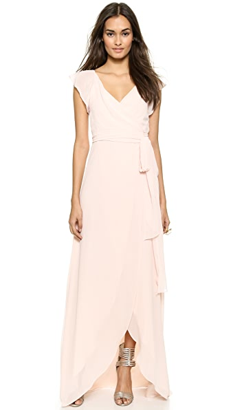 Joanna August Dorian Ruffle Sleeve Wrap Dress - Tiny Dancer