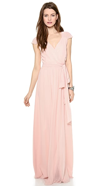 Joanna August Newbury Cap Sleeve Wrap Dress