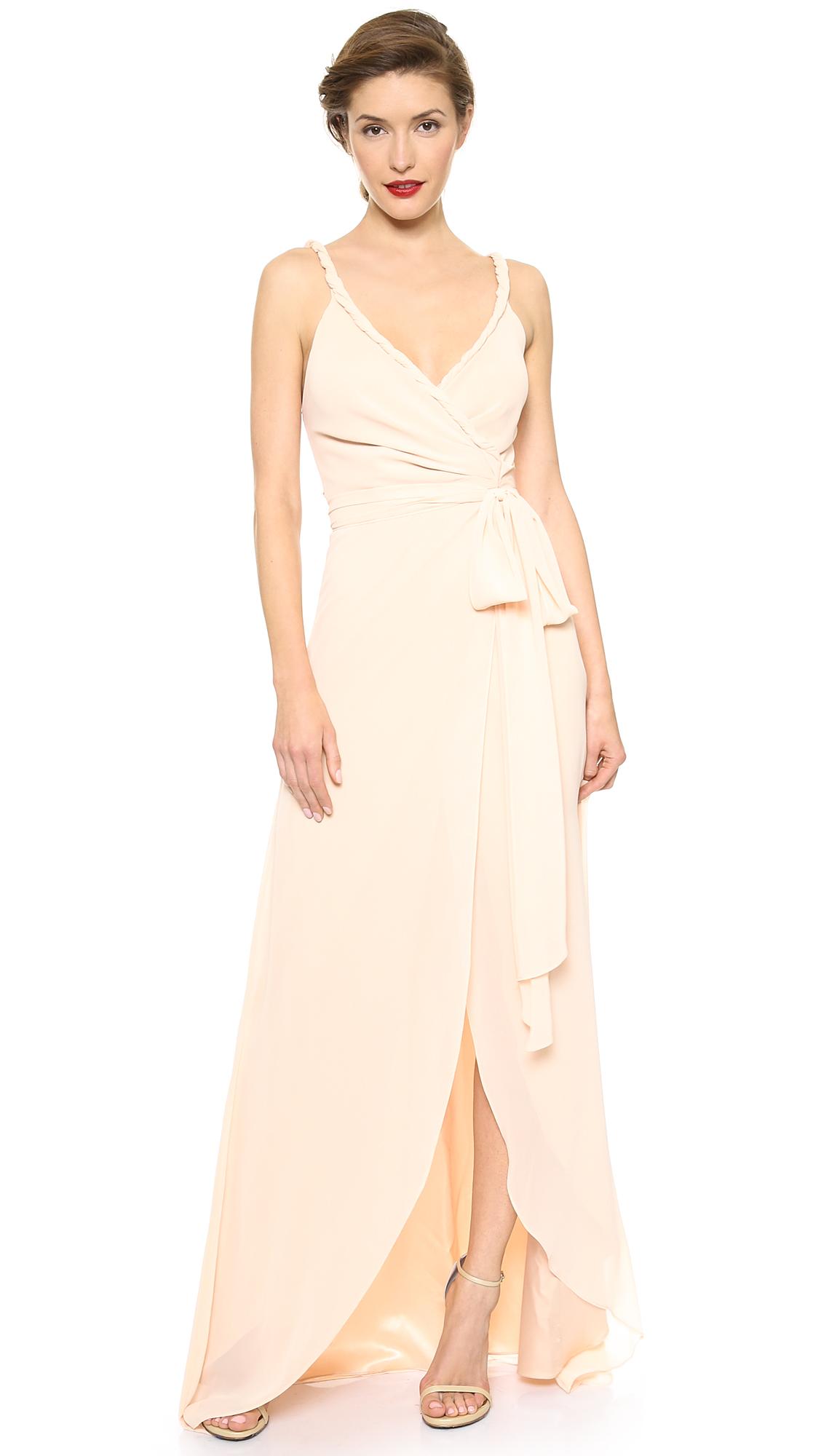 Joanna August The Parker Twist Strap Wrap Dress - Paradise