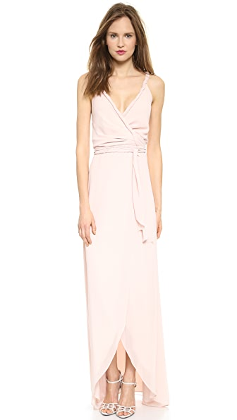 Joanna August The Parker Twist Strap Wrap Dress - Tiny Dancer