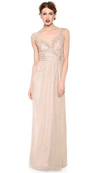Joanna August Lacey Lace Ruffle Dress