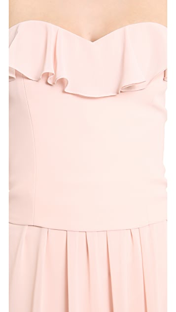 Joanna August Ruffle V Neck Top