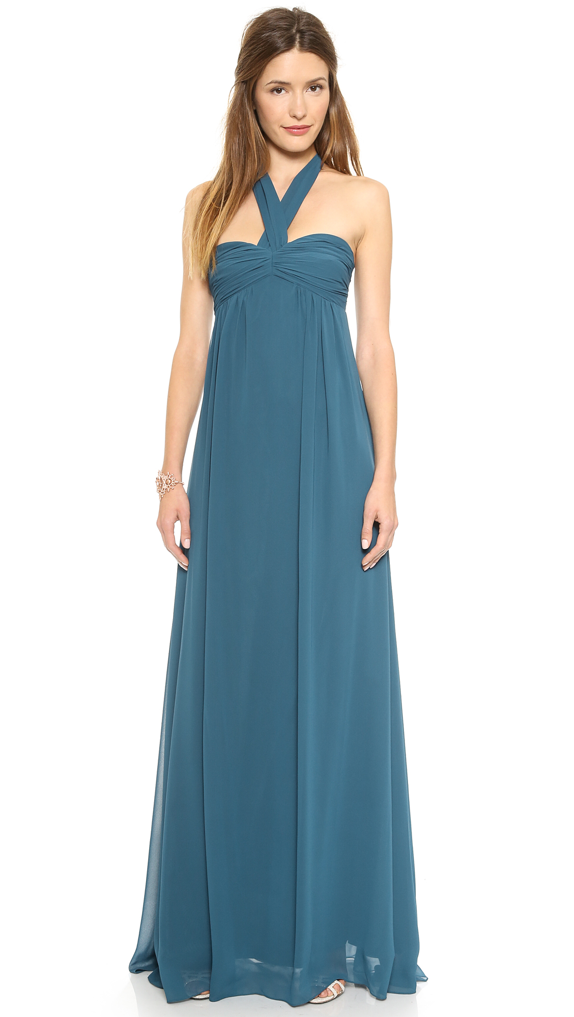 Joanna August Tatum Long Strapless Gown  SHOPBOP