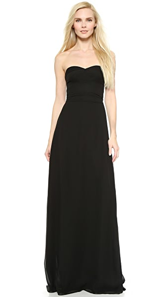 Joanna August Elisabeth Strapless Dress In Black