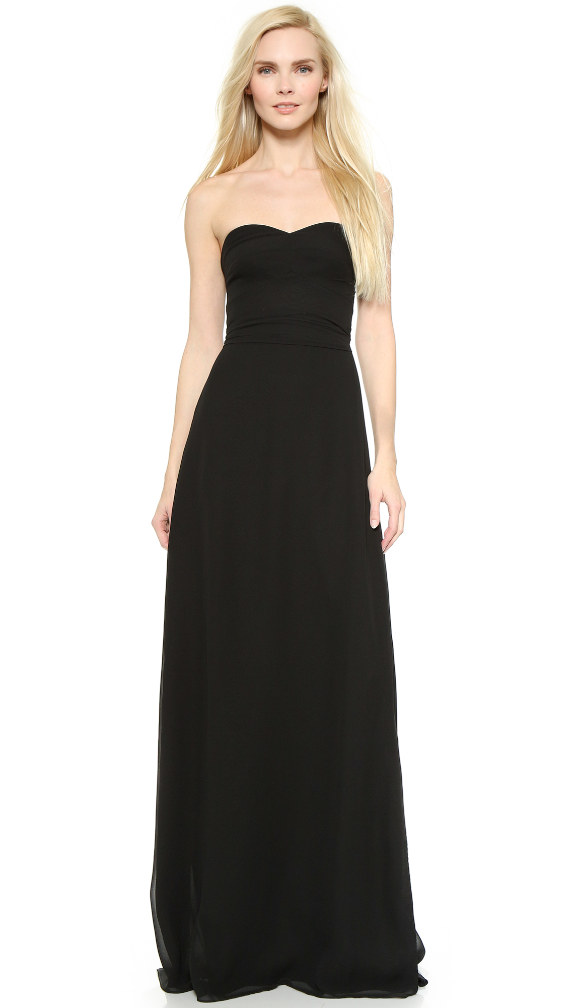 Joanna August Elisabeth Strapless Dress - Black