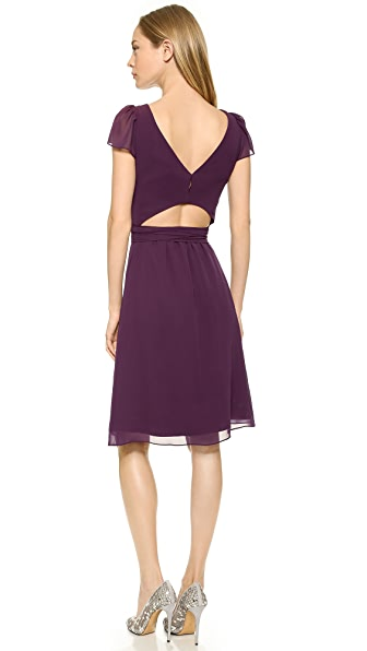 Joanna August Kimberly Cap Sleeve Knee Length Dress - Witchcraft