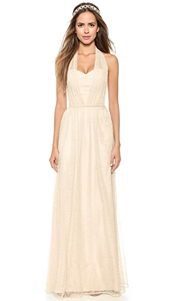 Joanna August Sammy Long Lace Convertible Dress - Champagne