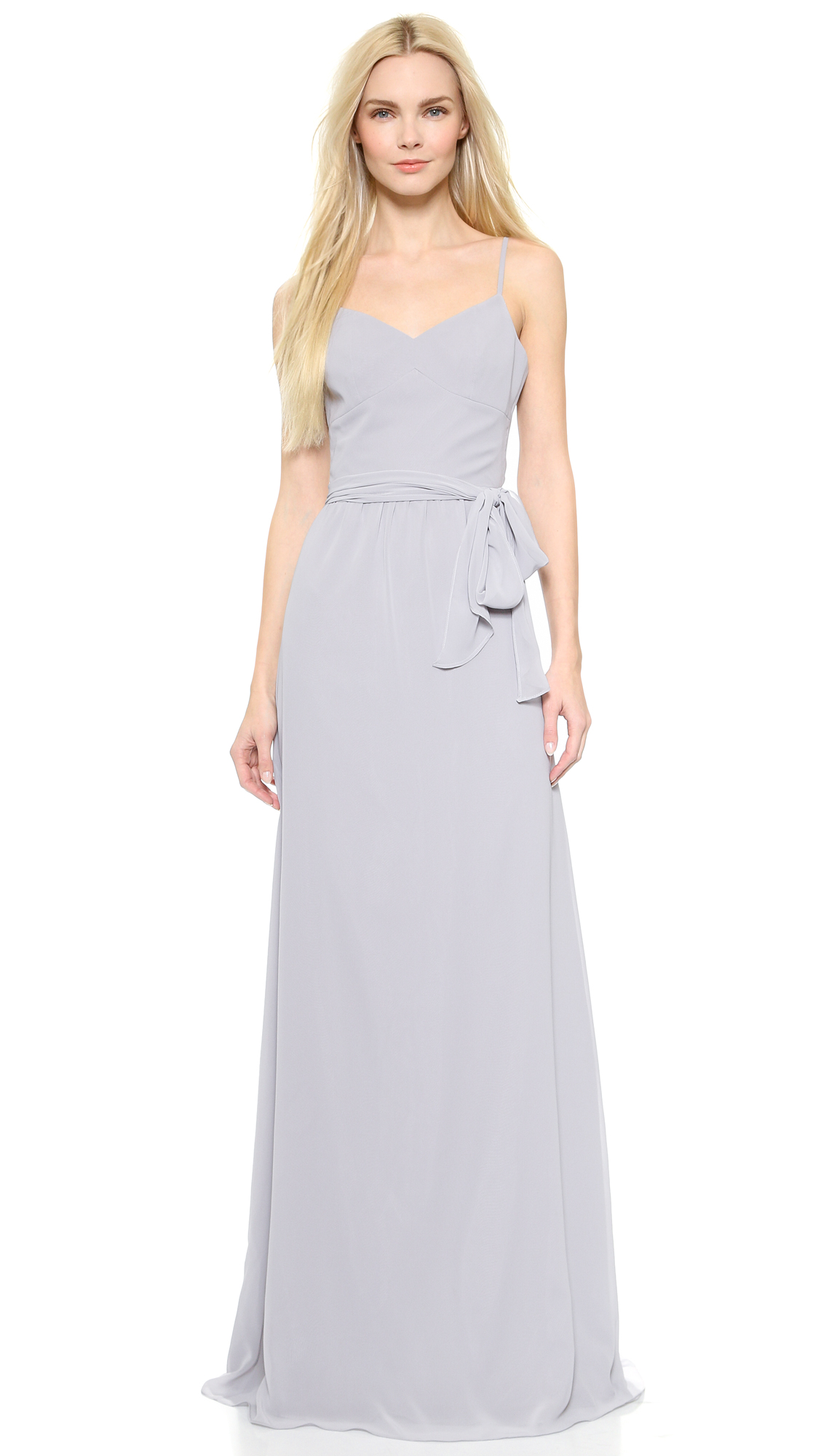 Joanna August Stephanie Long Dress - Silver