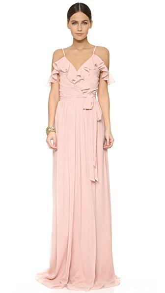 Joanna August Portia Off Shoulder Wrap Dress - Tiny Dancer