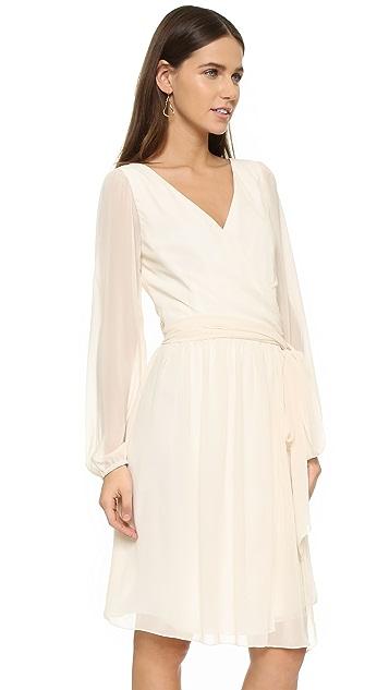 Joanna August Holly Long Sleeve Wrap Dress