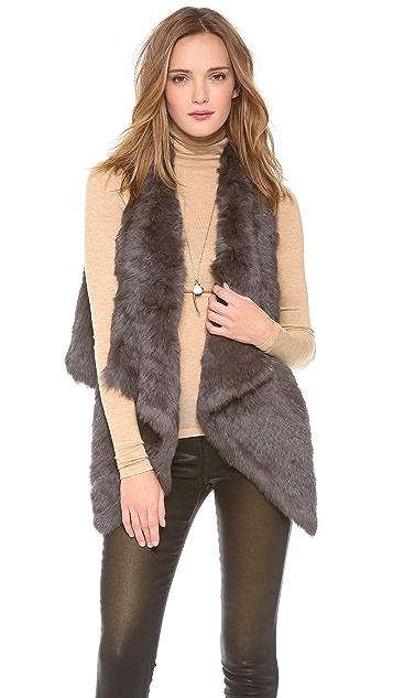 Jocelyn Coco Rabbit Fur Vest