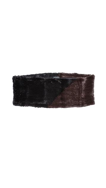 Jocelyn Rabbit Fur Colorblock Infinity Scarf