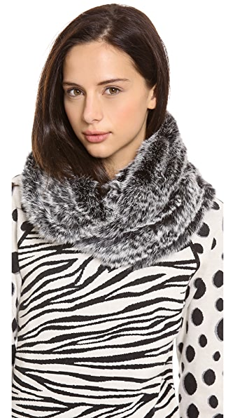 Jocelyn Long Hair Rabbit Infinity Scarf