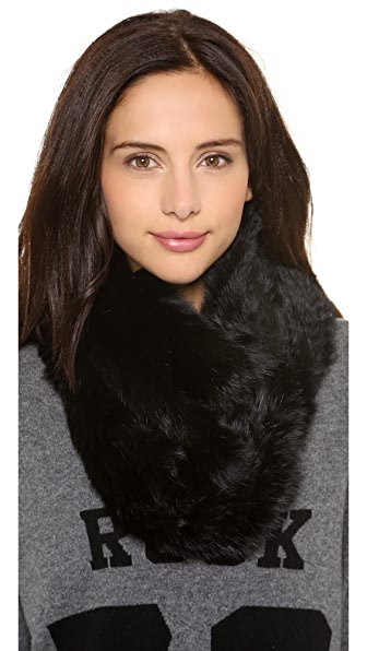 Jocelyn Rabbit Fur Infinity Scarf