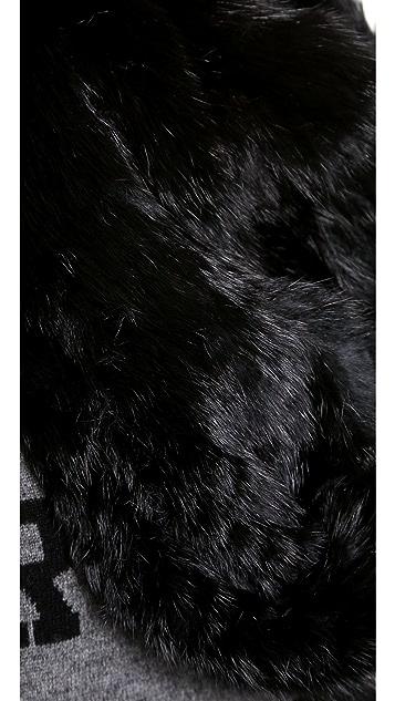 Jocelyn Rabbit Fur Infinity Scarf