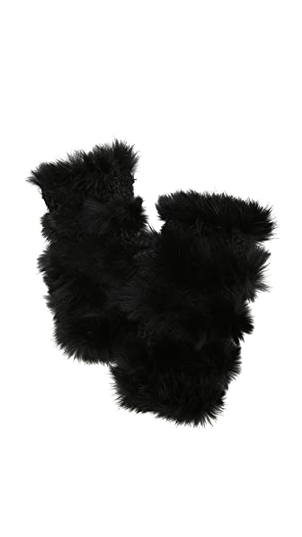 Jocelyn Mandy Rabbit Fur Mittens