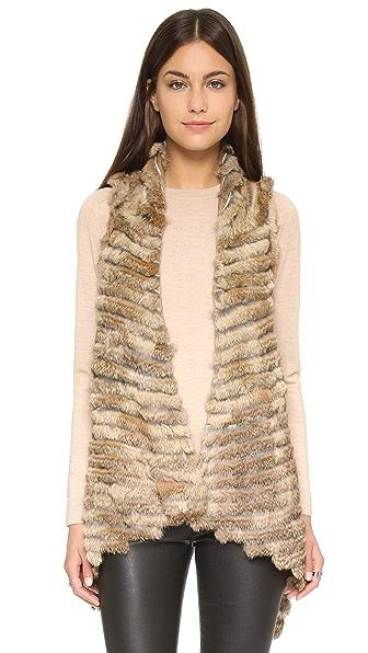 Jocelyn Asymmetrical Fur Vest
