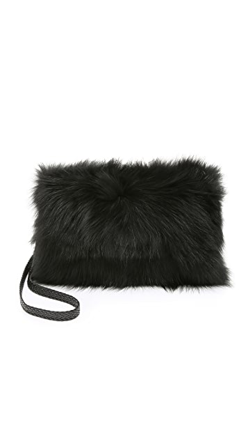Jocelyn Patchwork Fur Muff Bag