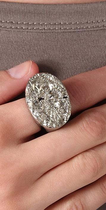 Jody Candrian Jewelry Black Quartz & Pyrite Ring