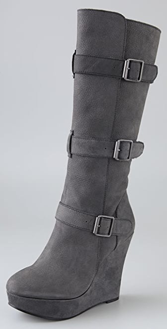 Joe's Jeans Uncaged Buckled Platform Boots