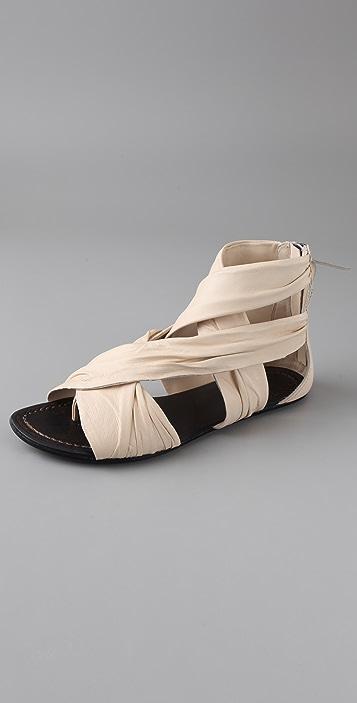 Joe's Jeans Monroe Draped Flat Thong Sandals
