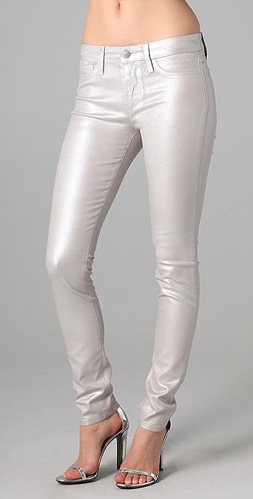 Joe's Jeans Silver Skinny Jeans