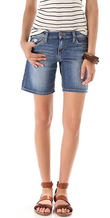 Joe's Jeans Destroyed Long Rolled Shorts