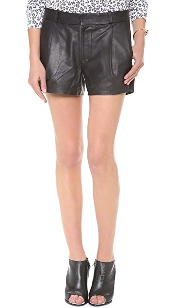 Joe's Jeans Leather Tulip Trouser Shorts