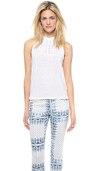 Joe's Jeans Embroidered Linen Kate Tank