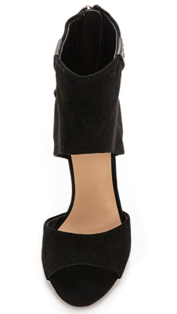 Joe's Jeans Beau Suede d'Orsay Sandals