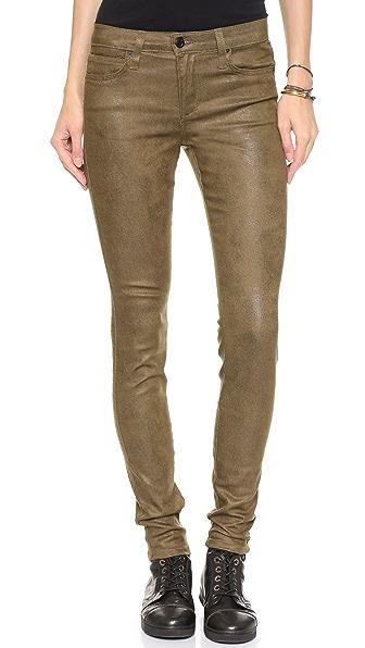 Joe's Jeans Coated Skinny Crackle Jeans