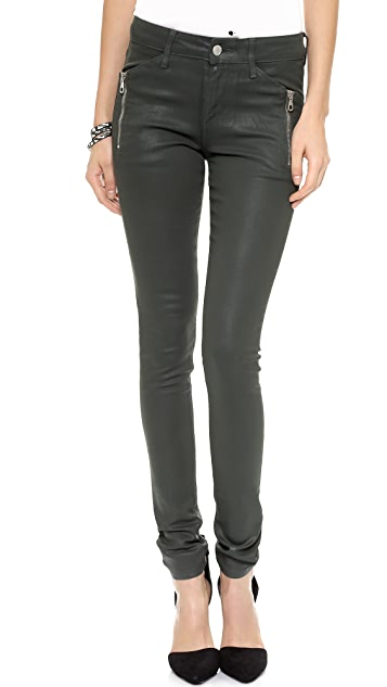 Joe's Jeans Rollin' Zip Coated Legging Jeans