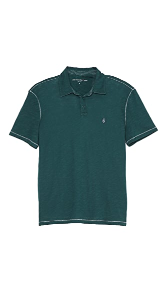 John Varvatos Star USA Peace Sign Short Sleeve Polo