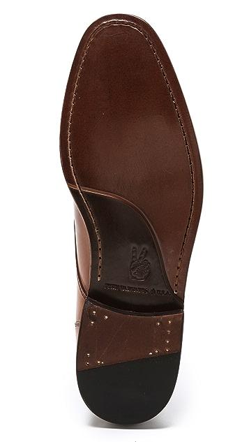 John Varvatos Star USA Luxe Chukka Plain Toe on Leather Sole