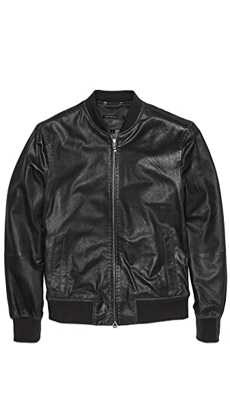 John Varvatos Star USA Suede Bomber Jacket