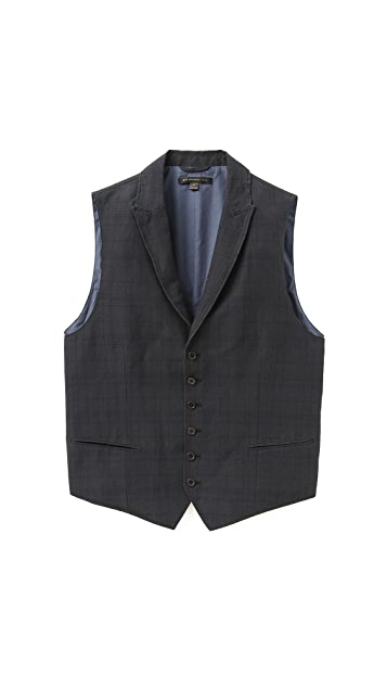 John Varvatos Star USA Peak Lapel Vest