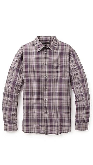 John Varvatos Star USA Slim Fit Plaid Shirt