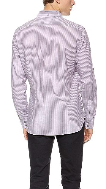John Varvatos Star USA Vertical Stripe Shirt
