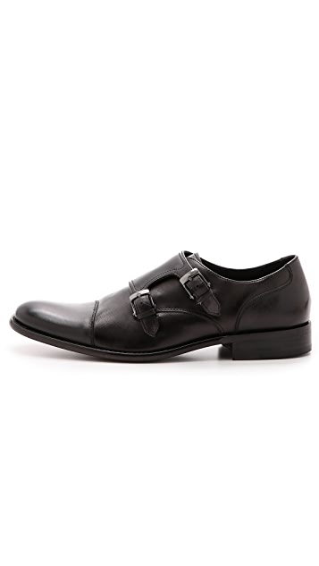 John Varvatos Star USA Luxe Monk Strap Shoes