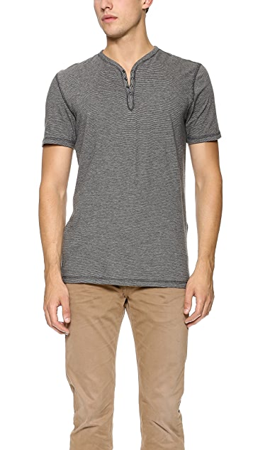John Varvatos Star USA Short Sleeve Henley
