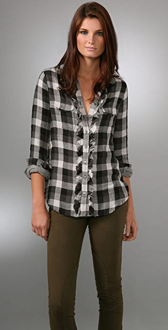 Joie Catori Western Plaid Shirt