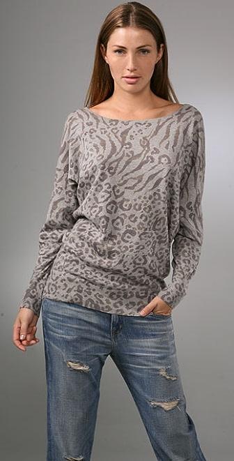 Joie Leopard Print Rusty Sweater