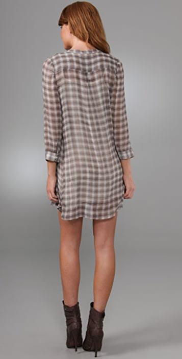 Joie Avina Grunge Plaid Dress